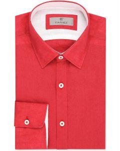 Canali overhemd rood